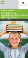 Titelbild: Bildungswege im Land Sachsen-Anhalt