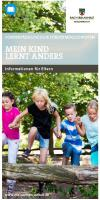 Titelbild: Mein Kind lernt anders - Information für Eltern