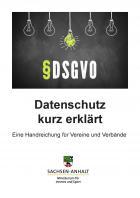 """Titelbild: """"Datenschutz kurz erklärt - Eine Handreichung für Vereine und Verbände"""""""