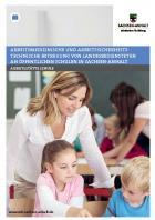 Titelbild: Arbeitsmedizinische und arbeitssicherheitstechnische Betreuung von Landesbediensteten an öffentlichen Schulen in Sachsen-Anhalt