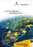 """Titelbild: """"Horizonte erweitern - Zunkunft gestalten. Sachsen-Anhalts europäische und internationale Aktivitäten 2016 - 2020'"""""""